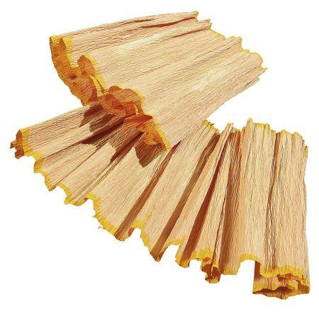 Σετ 2τχ XL Διακοσμητικό ξύσμα ξυλομπογιάς Κίτρινο 50x15cm