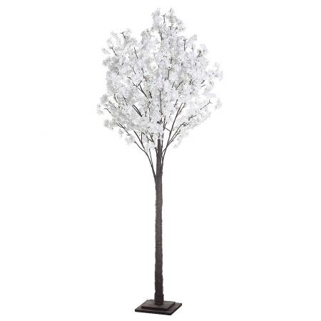 Διακοσμητικό δέντρο αμυγδαλιά με Λευκά άνθη 200cm