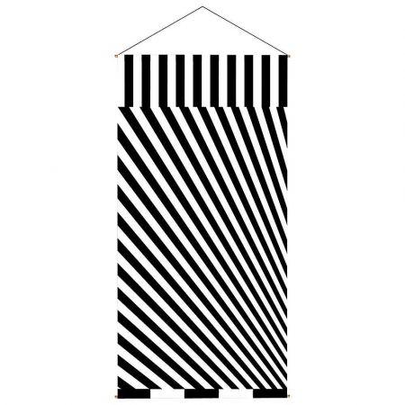 Διακοσμητική αφίσα από ύφασμα ασπρόμαυρη Illusion 100x200cm