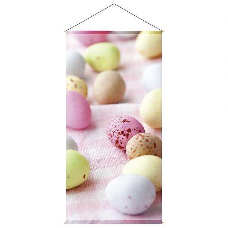 Διακοσμητική αφίσα - Banner με παστέλ αυγά 100x200cm