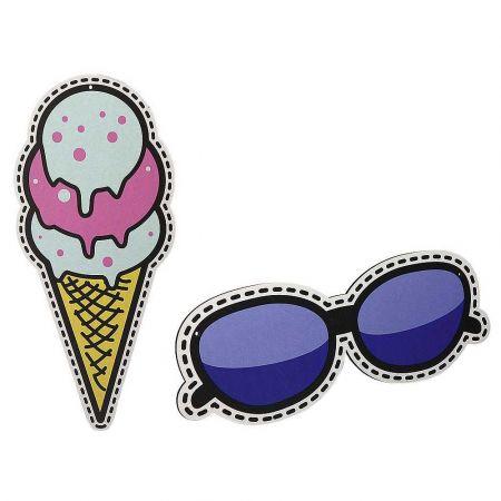 Σετ 2τχ πινακίδες Pop Art Παγωτό και Γυαλιά ηλίου 50cm, 40cm