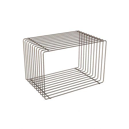 Διακοσμητικός Συρμάτινος Κύβος Χάλκινος 40x40x60cm