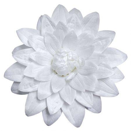 Διακοσμητικό άνθος Ντάλιας Λευκό 50cm