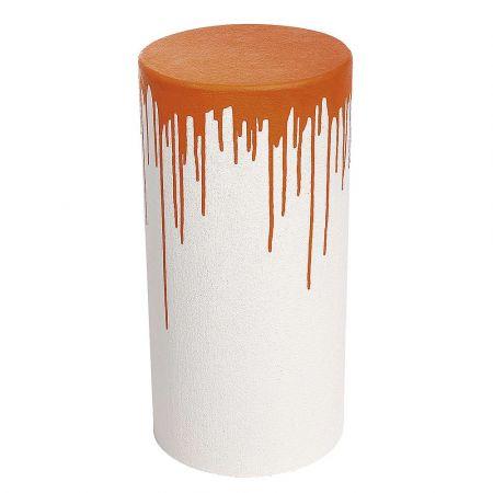 Διακοσμητικό κολονάκι Λευκό - Πορτοκαλί 60x30cm