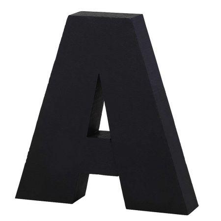 XL Διακοσμητικό γράμμα A Μαύρο 50x45x12cm
