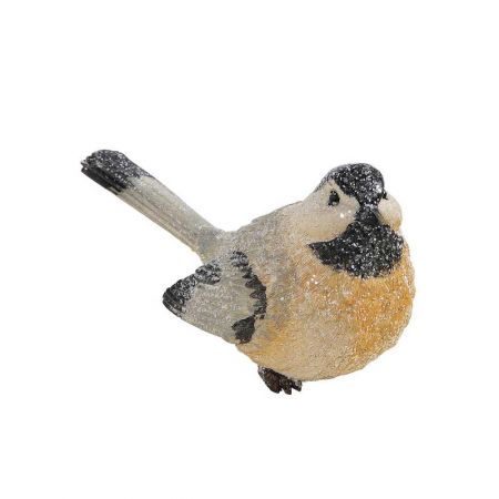 Διακοσμητικό κεραμικό πουλάκι Μαύρο - Γκρι - Μπεζ 24cm