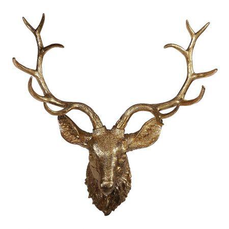 Διακοσμητικό κεφάλι ταράνδου Χρυσό 74x80cm