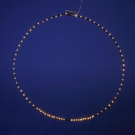 Φωτιζόμενο στεφάνι 80LED IP44 75cm