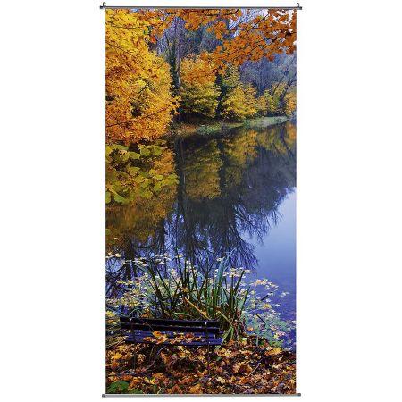 Διακοσμητική αφίσα - banner Φθινοπωρινή λίμνη 100x200cm