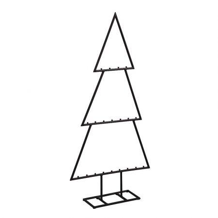 Μεταλλικό Χριστουγεννιάτικο δέντρο - σταντ Μαύρο 37x77cm
