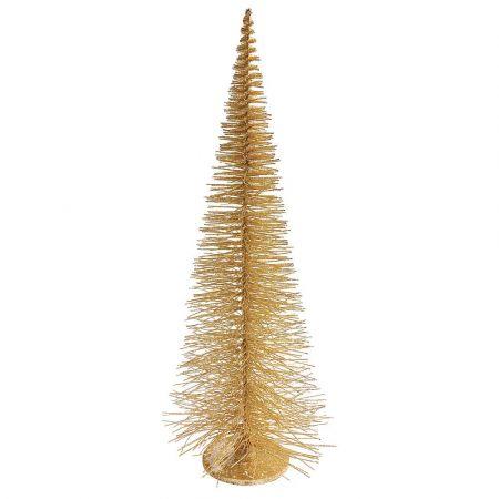 Χριστουγεννιάτικο δεντράκι συρμάτινο Χρυσό με glitter 120x46cm