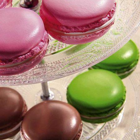 Σετ 3τχ διακοσμητικά macaron Καφέ - Πράσινο - Ροζ 5cm