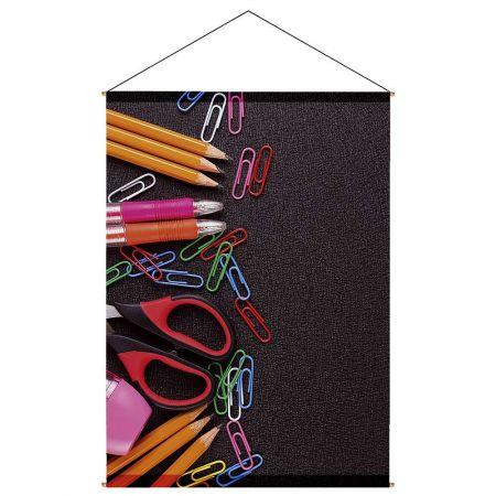Διακοσμητική αφίσα με μολύβια και συνδετήρες 140x100cm