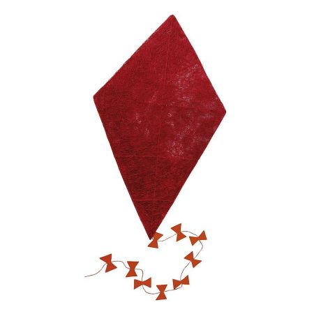 Διακοσμητικός χαρταετός σιζάλ Κόκκινο 130x75cm