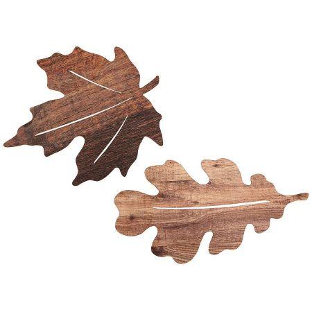 Σετ 2τμχ XL ξύλινα φύλλα 60x32cm 55x50cm