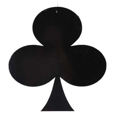 Διακοσμητικό σήμα τράπουλας - Σπαθί Μαύρο 50x47cm