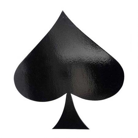 Διακοσμητικό σήμα τράπουλας - Μπαστούνι Μαύρο 50x47cm