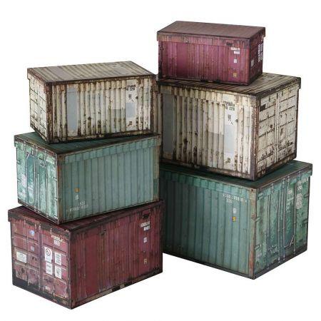Σετ 6τχ Κουτιά δώρου με όψη Container 31xx21x23cm
