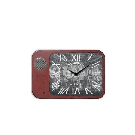 Διακοσμητικό επιτραπέζιο ρολόι Κόκκινο 33x5x22cm