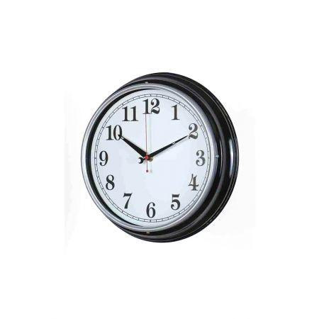 Διακοσμητικό Ρολόι Τοίχου Μαύρο 31cm
