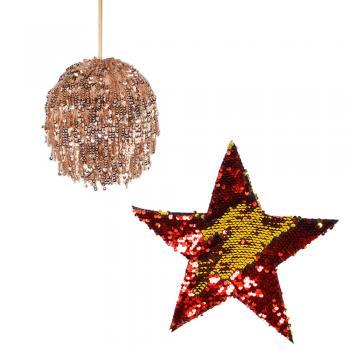 Μπάλες - Αστέρια με Παγιέτες