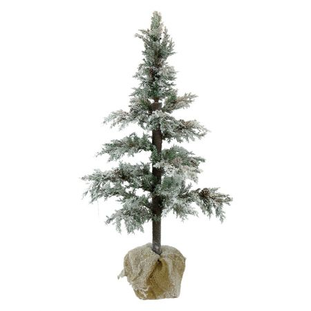 Χριστουγεννιάτικο χιονισμένο δεντράκι με τσουβαλάκι 100cm