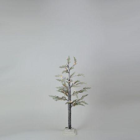 Φωτιζόμενο δέντρο Χριστουγέννων χιονισμένο με LED μπαταρίας 90cm
