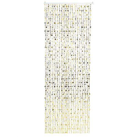Διακοσμητική κουρτίνα με κύκλους Χρυσή 240cm