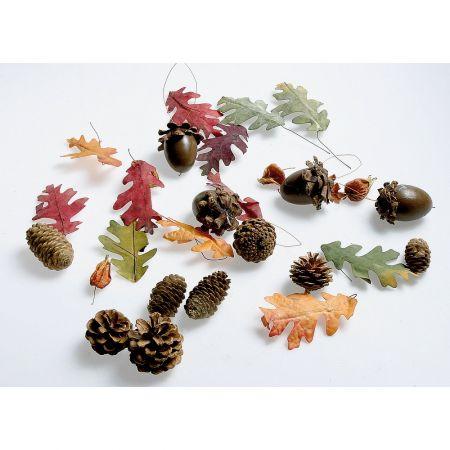 Φθινοπωρινό Σετ με φύλλα, βελανίδια και κουκουνάρια