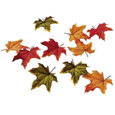 Σετ 30τχ Διακοσμητικά φθινοπωρινά φύλλα Σφενδάμου Κόκκινα - Πράσινα 12cm