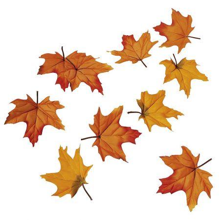 Σετ 30τχ Διακοσμητικά Φθινοπωρινά φύλλα Σφενδάμου 15cm