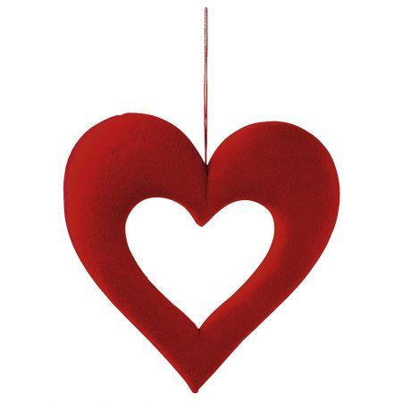 Διακοσμητική καρδιά με κενό 40cm
