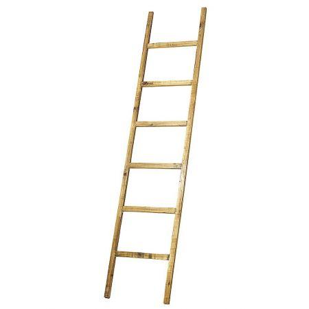 Διακοσμητική Σκάλα Ξύλινη - 6 Πατήματα Φυσικό 170x38cm