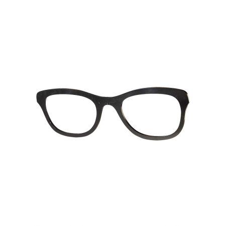 Διακοσμητικά γυαλιά Μαύρα 100x30cm