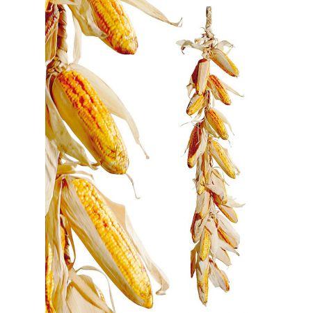 Διακοσμητική φθινοπωρινή γιρλάντα με καλαμπόκια, 100 cm