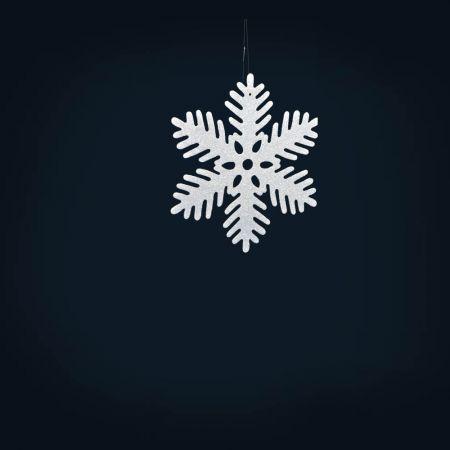 Σετ 12τχ Διακοσμητικές Χριστουγεννιάτικες νιφάδες χιονιού, 10cm
