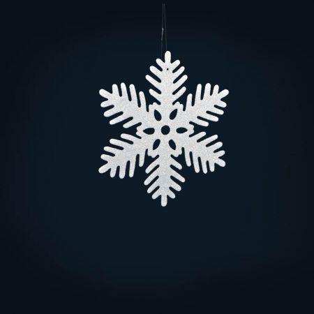 Σετ 6τχ Διακοσμητικές Χριστουγεννιάτικες νιφάδες χιονιού 15cm