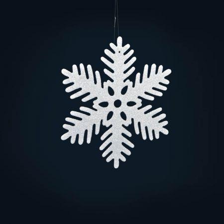 Σετ 6τχ Διακοσμητικές Χριστουγεννιάτικες νιφάδες χιονιού 20cm