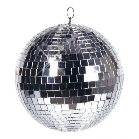 Διακοσμητική Disco μπάλα Ασημί 20cm