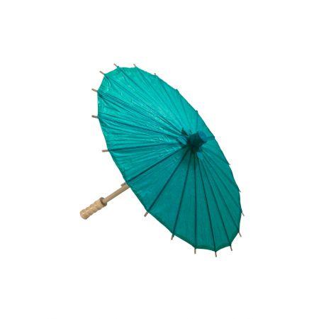 Διακοσμητική Χάρτινη ομπρέλα, Τυρκουάζ 40cm