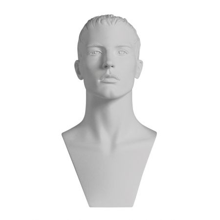Διακοσμητικό Κεφάλι-Μπούστο Ανδρικό Λευκό 49cm
