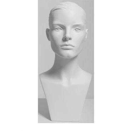 Διακοσμητικό Κεφάλι-Μπούστο Γυναικείο Λευκό 47cm