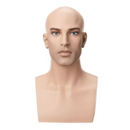 Διακοσμητικό Κεφάλι-Μπούστο Ανδρικό με Make-up 45cm
