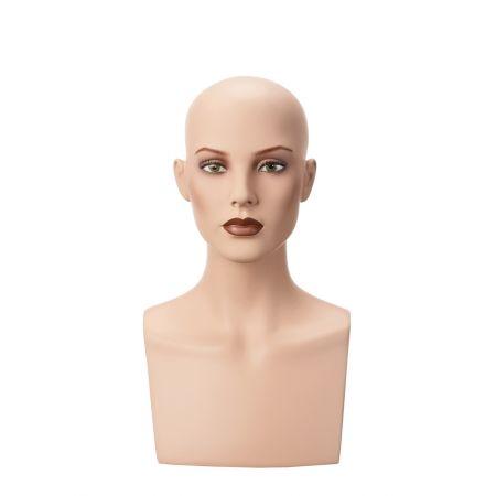 Διακοσμητικό Κεφάλι-Μπούστο Γυναικείο με Make-up 45cm