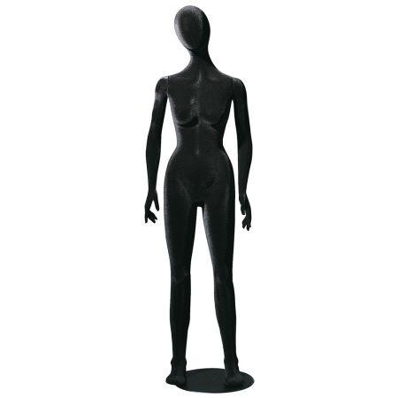 Γυναικεία Εύκαμπτη Κούκλα Βιτρίνας Βελούδινη 176cm