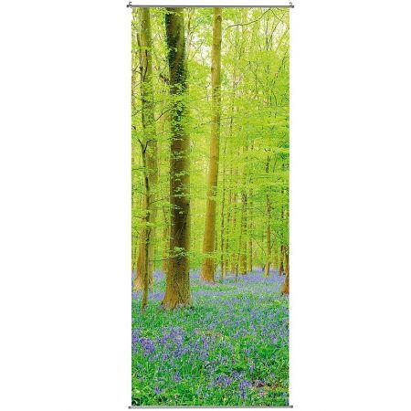 Διακοσμητική αφίσα από ύφασμα - Spring Forest - 100x250cm