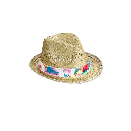Διακοσμητικό ψάθινο καπέλο 32x28cm