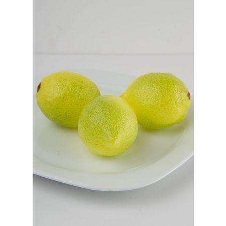 Σετ 3τχ Διακοσμητικά λεμόνια απομίμηση 8x6cm