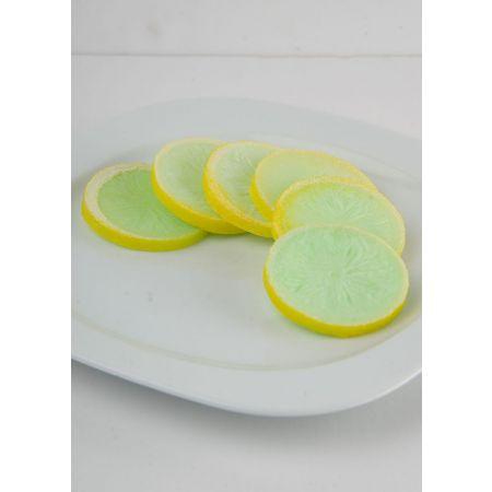 Σετ 6τχ Διακοσμητικές φέτες λεμονιού - απομίμηση 6cm