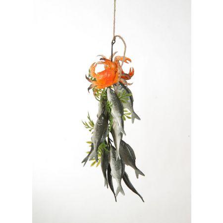 Διακοσμητική δέσμη με σαρδέλες 40cm
